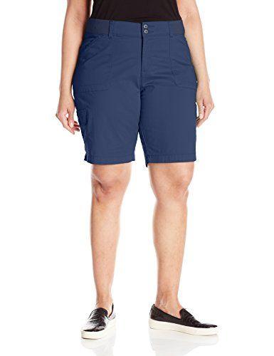 LEE Womens Plus Size Relaxed Fit Denim Bermuda Short
