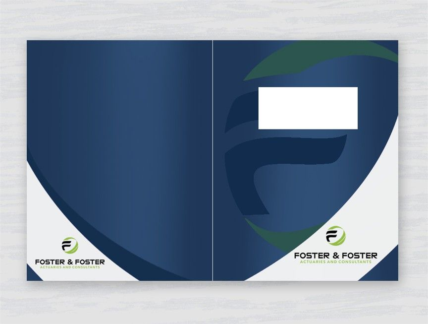 Create a professional report cover (front and back) for a consulting firm by double-take