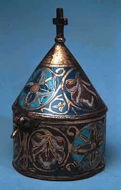 Keir Pyx,Copper enamel,13th century, Limoges