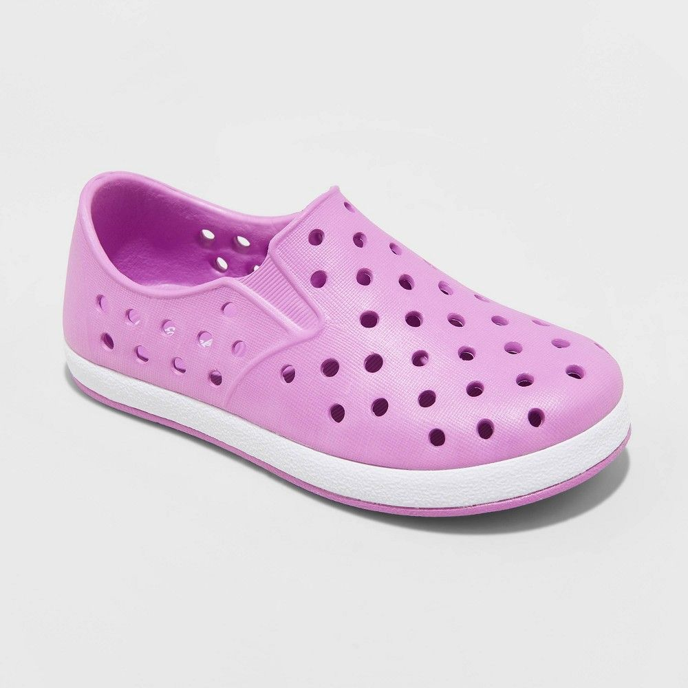 12  NEW Cat /& Jack Girls Toddlers Slip On Purple Pink Sneakers Size 11