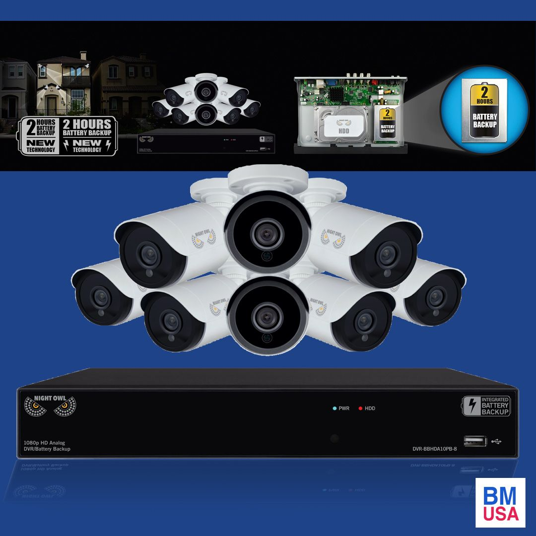 Night Owl Video Surveillance Systems 24 7 Video Security Day Or Night Night Owl S Smart Detection Security Syst Video Security Surveillance System Home Tv