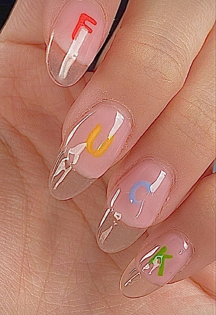 Pin By Leanne White On Indie Colorful Vintage In 2020 Funky Nails Swag Nails Pretty Acrylic Nails