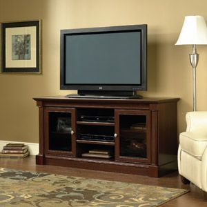 Sauder Palladia Panel Tv Stand Select Cherry Finish New