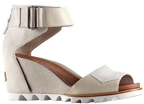 4757da90e59 Sorel Joanie Wedge Sandal womens shoes STONE 5 -- You can find more details  by visiting the image link.