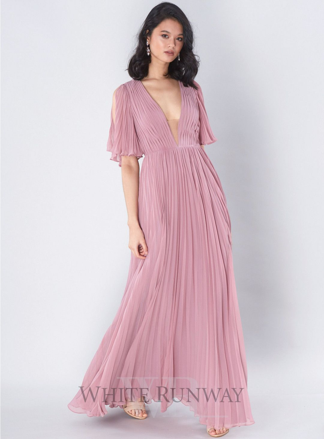 Clementine Pleated Gown | Receptions | Pinterest | Side split, Gowns ...