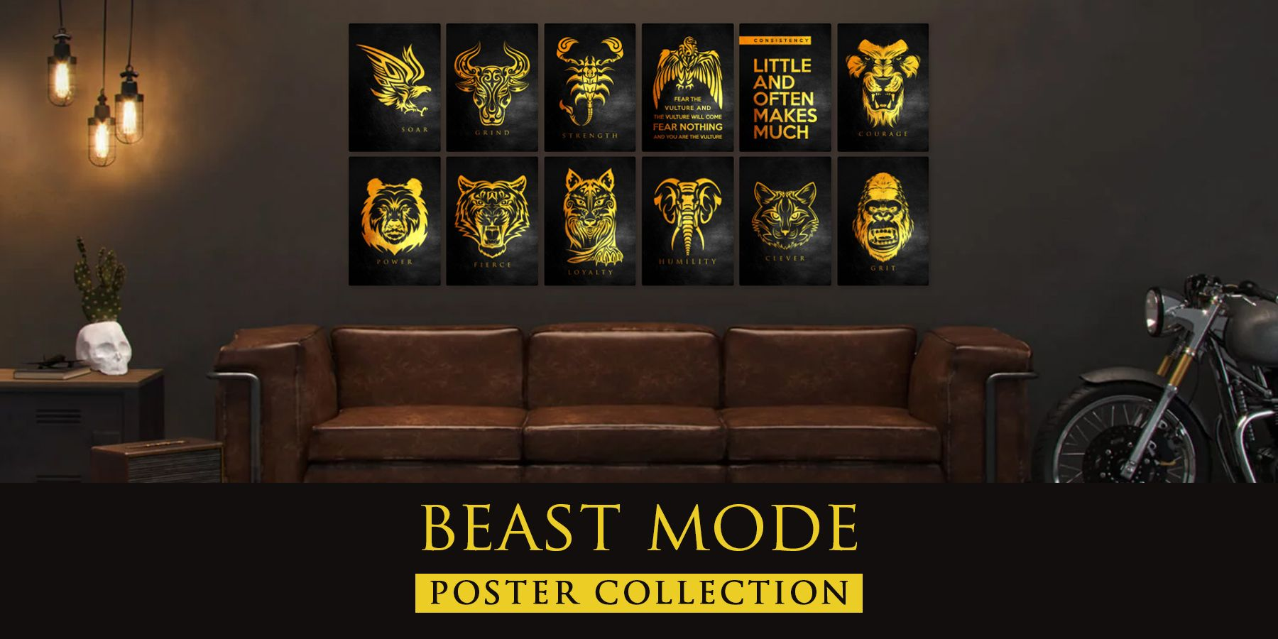 Beast Mode Mentality Posters Home Decor Interior Design  Mentality  Reality Be careful of your thoughts for your thoughts become your words Be careful of your words for y...