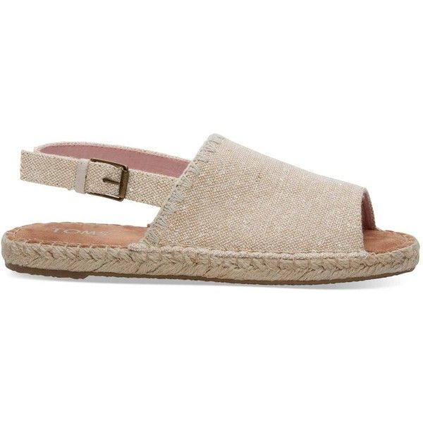 6cd32fbfc57e9 TOMS Natural Metallic Linen Women's Clara Espadrilles Shoes ($64 ...