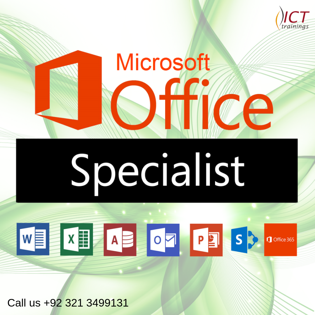 Ict Training offering MS Office MonTueWed,0500 PM to 06