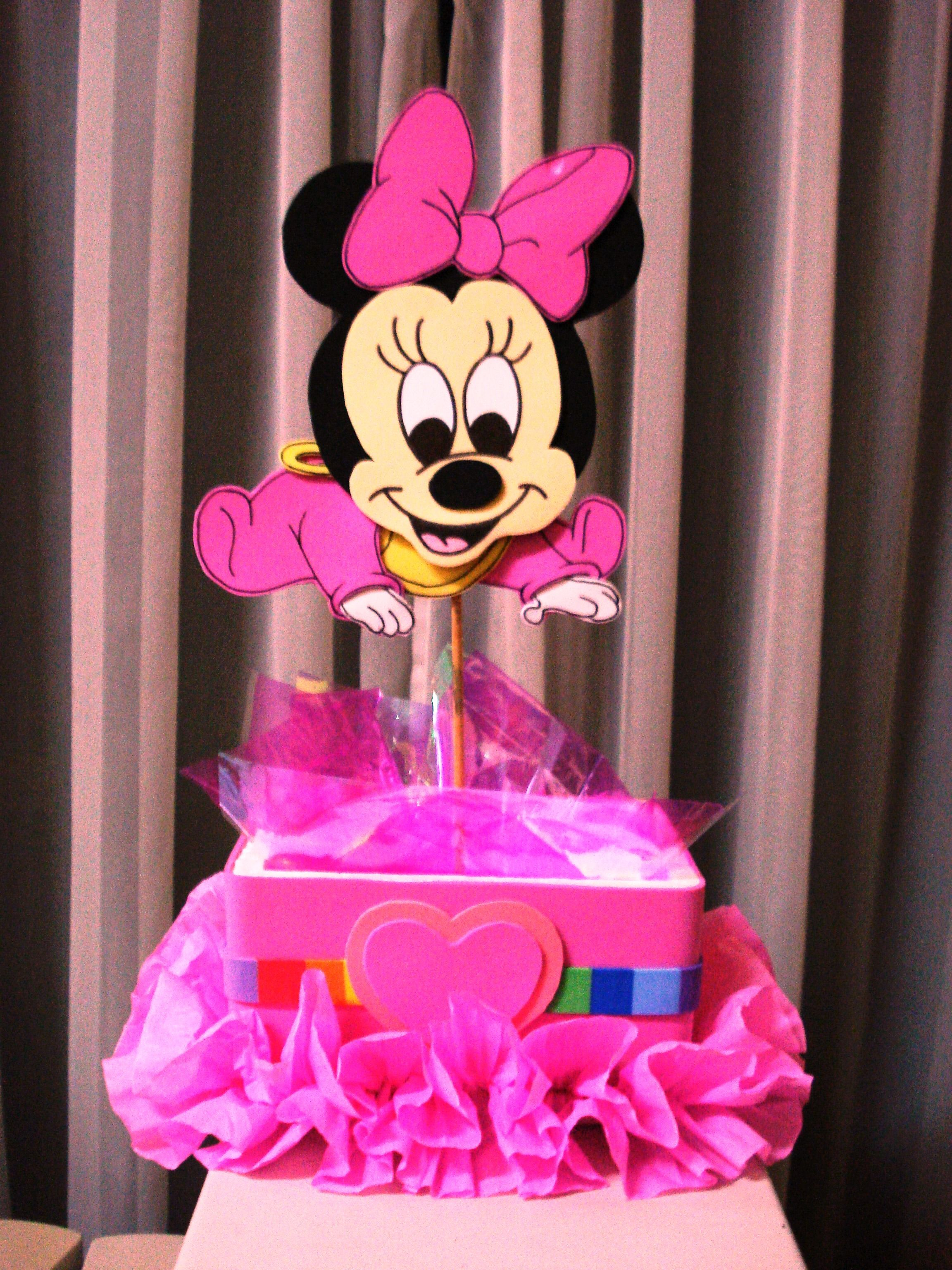 Centro de mesas de Minnie Baby Disney - FIESTAIDEAS. | ideas ...