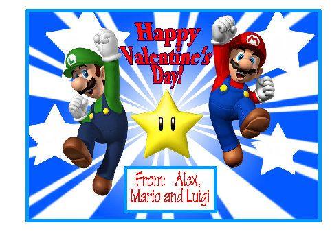 Valentine Cards Super Mario Bros Birthday Cards Too Valentines