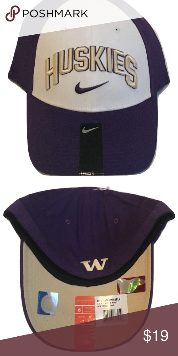 3f959a41a Washington Huskies Nike Dri-Fit L91 Flex-Fit Hat Washington Huskies Nike Dri -
