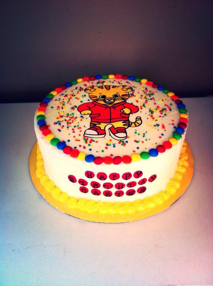 Birthday Cake Daniel Tigers Neighborhood Daniel Tiger Cake N