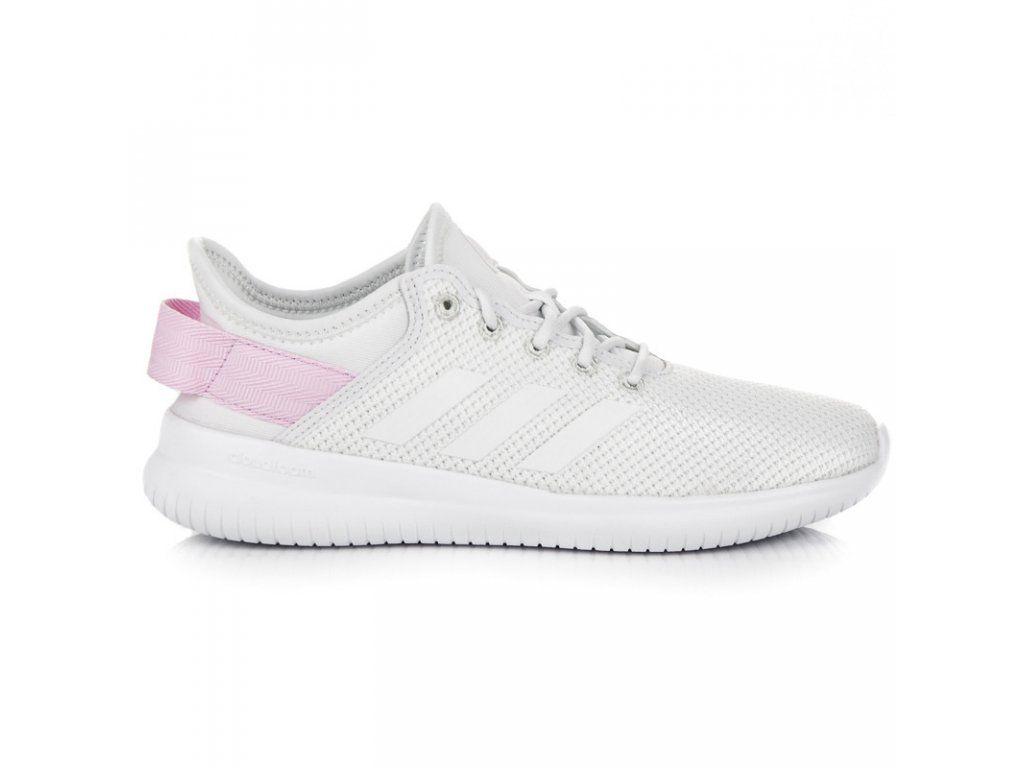 f70dbf36ecf6 Dámske biele tenisky Adidas CF QT Flex W