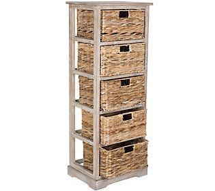 Safavieh Vedette 5 Wicker Basket Storage Tower