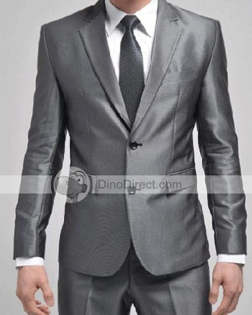 Metallic gray fitted two-button suit | Wedding! | Pinterest ...