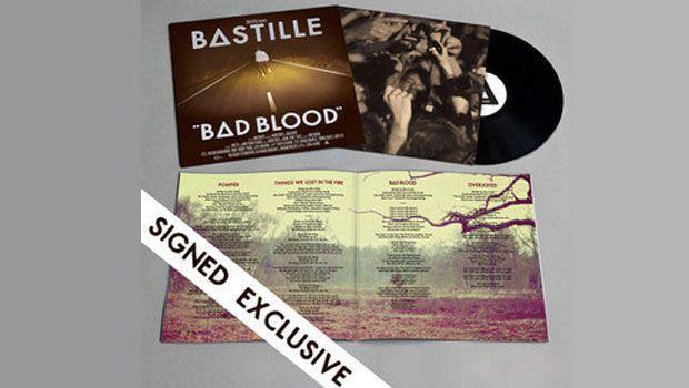 Bastille Bad Blood Limited To 1000 Signed Vinyl Lp Bad Blood Bastille Cool Bands