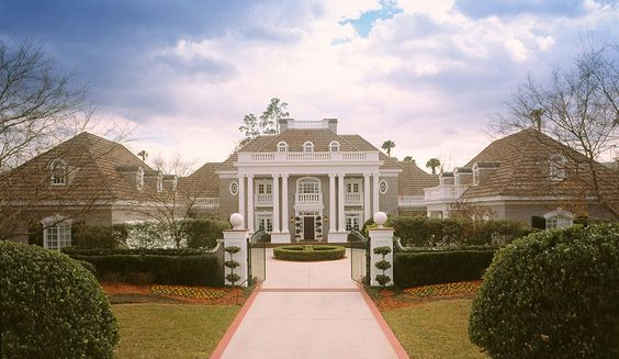 With Its Columned Porch Ornate Balustrade And Rich Stucco Exterior This Luxury House Plan Exudes A Stately P Luxury House Plans House Plans Foyer Decorating