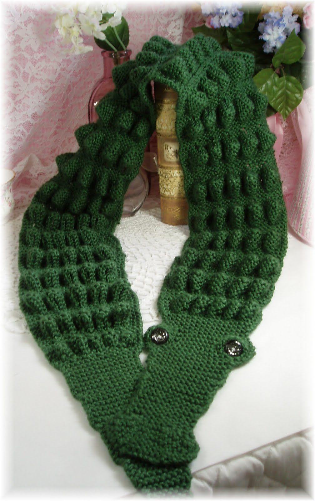 Freecrocodilestitchscarfpattern Alligator Scarf Knitting Fun