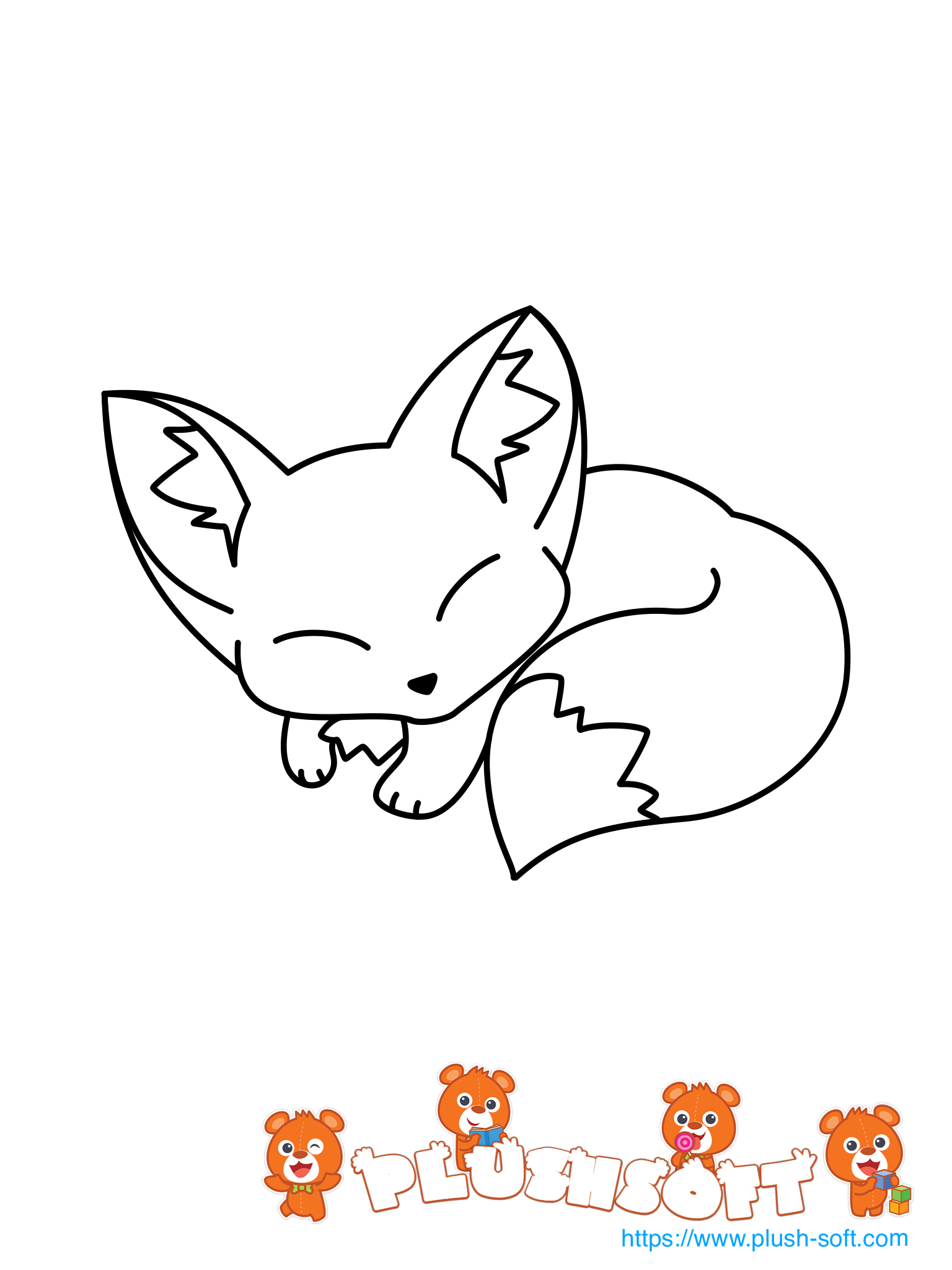 - Printable Coloring Page - A Cute Fox For Your Toddler To Color