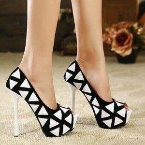 Hermosos zapatos de mujer altos (4)  8798d751870e