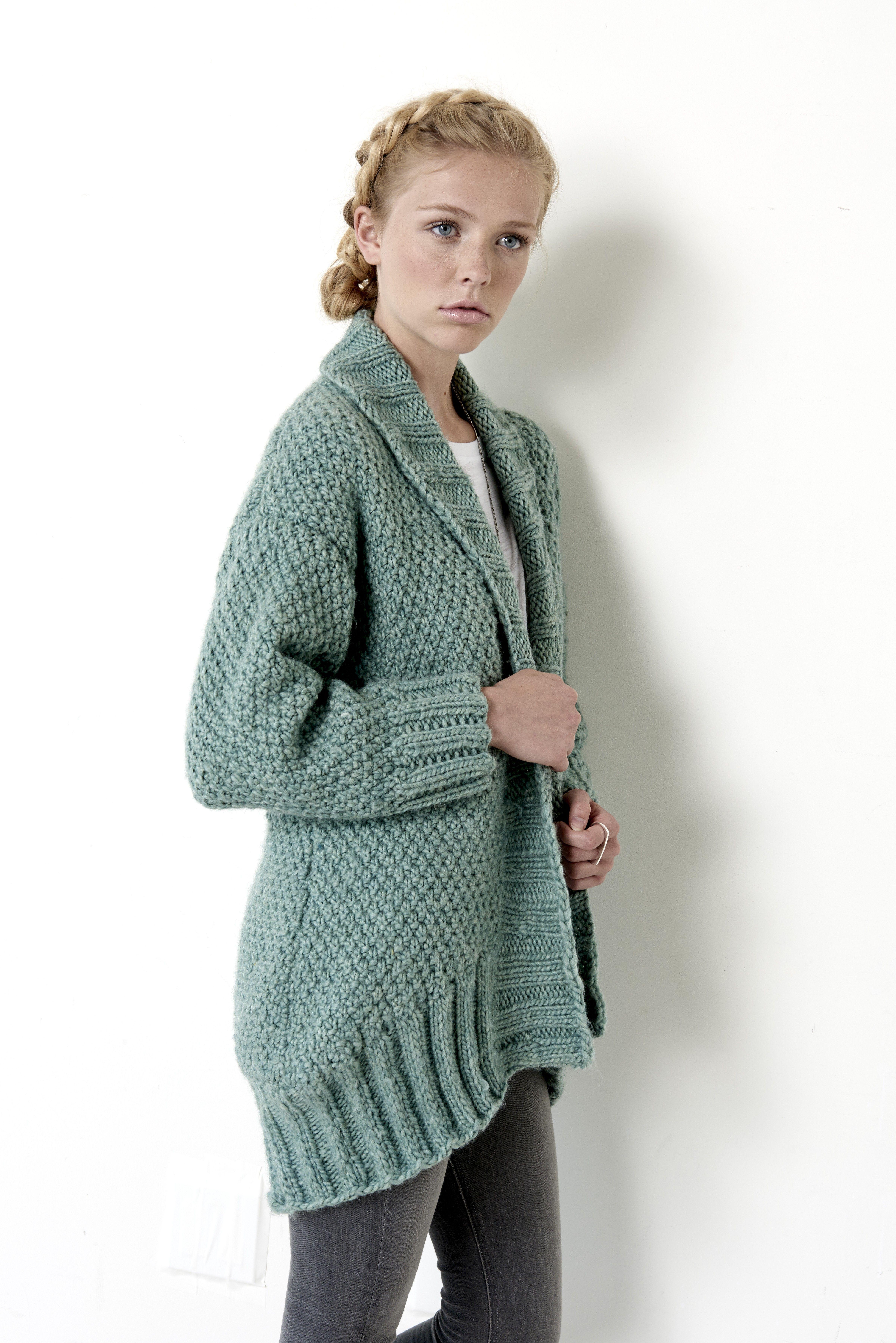 Knitting Cardigan Patterns : Cocoon cardigan patterns yarnspirations this cardi