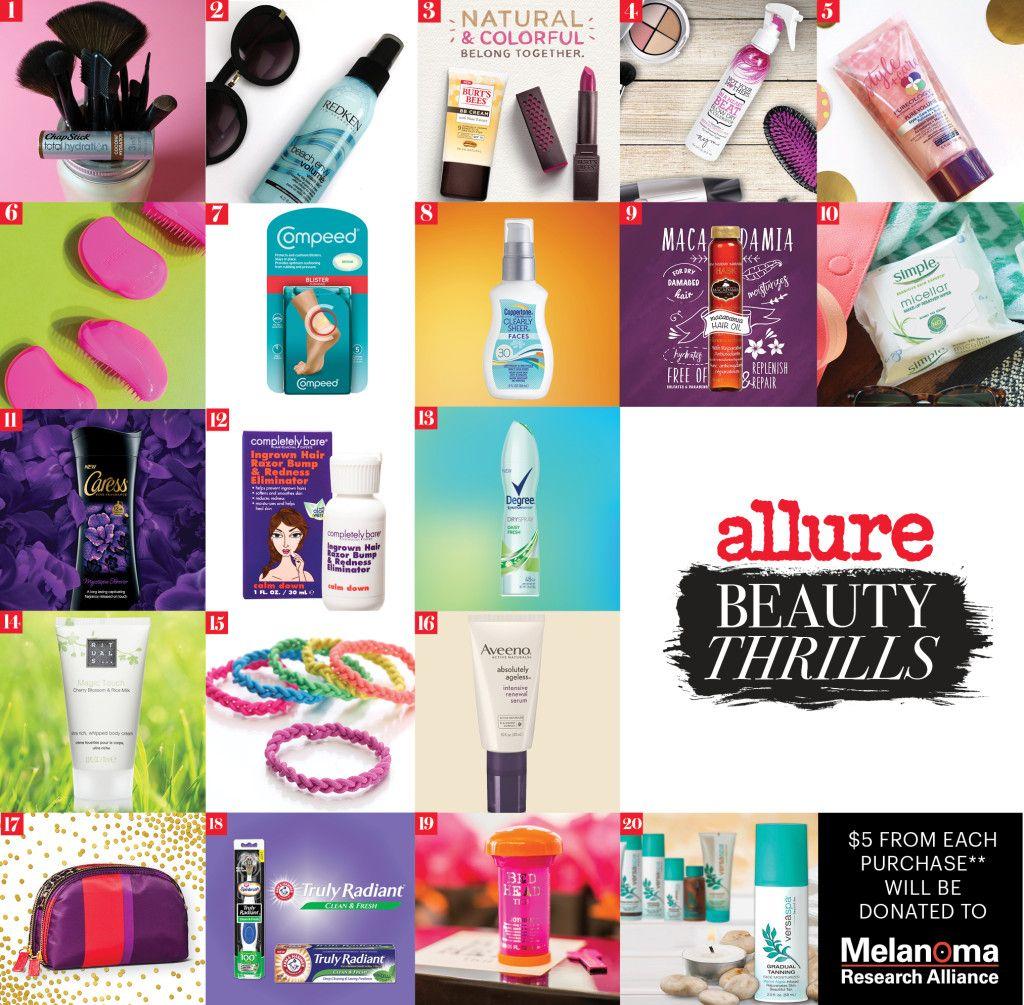 May Beauty Thrills Box Allure Access Beauty Subscriptions Beauty Box Beauty