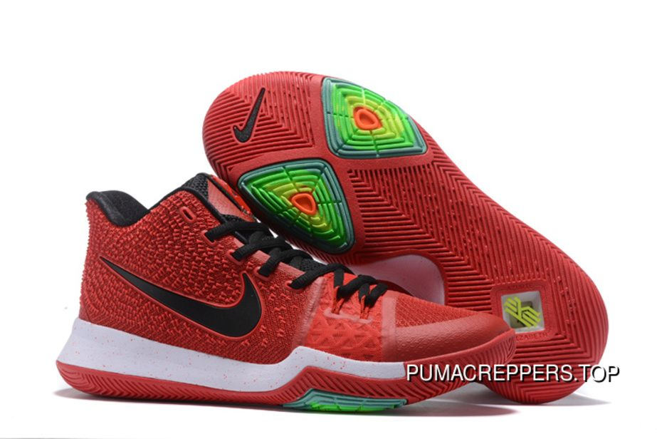 Nike Kyrie 3 Cheap Sale Black White Red