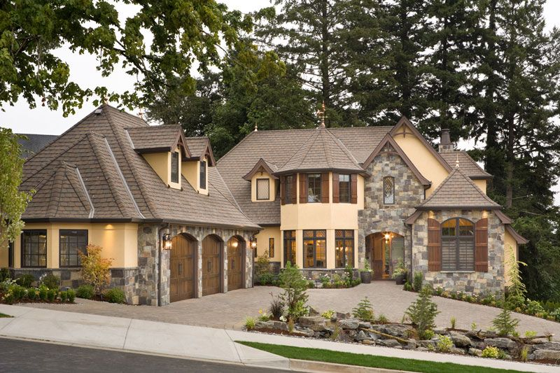 This luxury european cottage house plan 4912 combines for Rich house plans