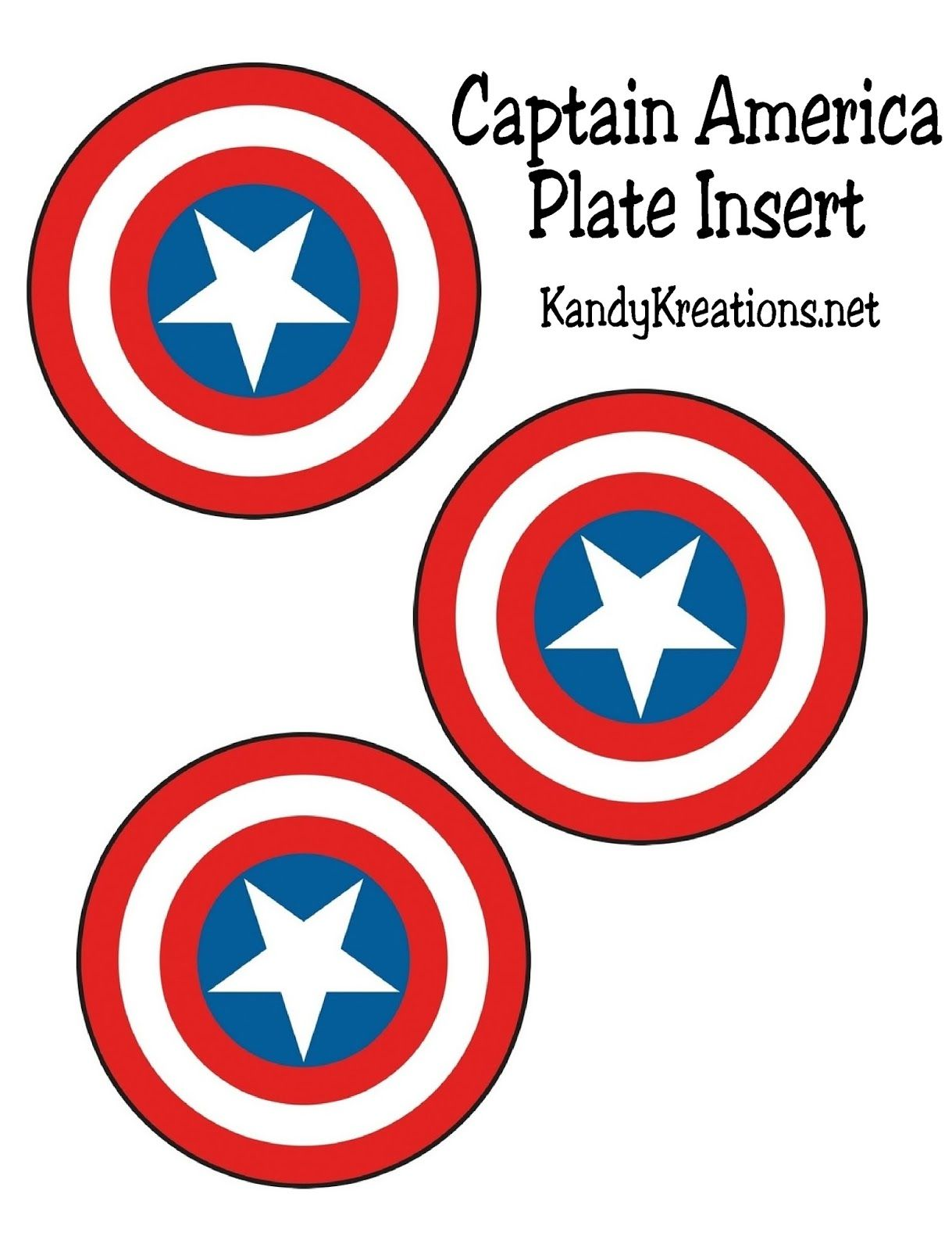 photo relating to Captain America Shield Printable called Captain The us Defend Patriotic Plate Add Printable