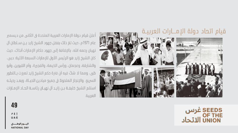 بوربوينت عن اليوم الوطني الاماراتي 49 ادركها بوربوينت Photo Wall Photo National