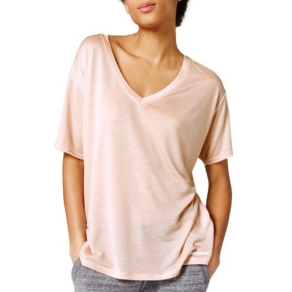 IVY PARK Oversize V-Neck Tee (210 SEK) ❤ liked on Polyvore featuring