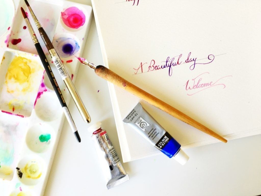 How to do calligraphy using watercolor how to do