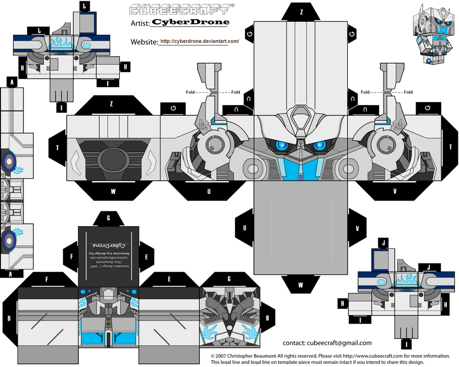 Custom Transformers Cut out templates of paper toys i've