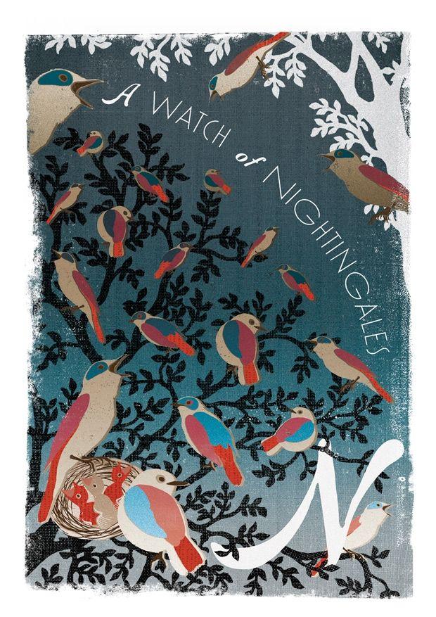 Woop Studios Collective nouns, Prints, Bird graphic