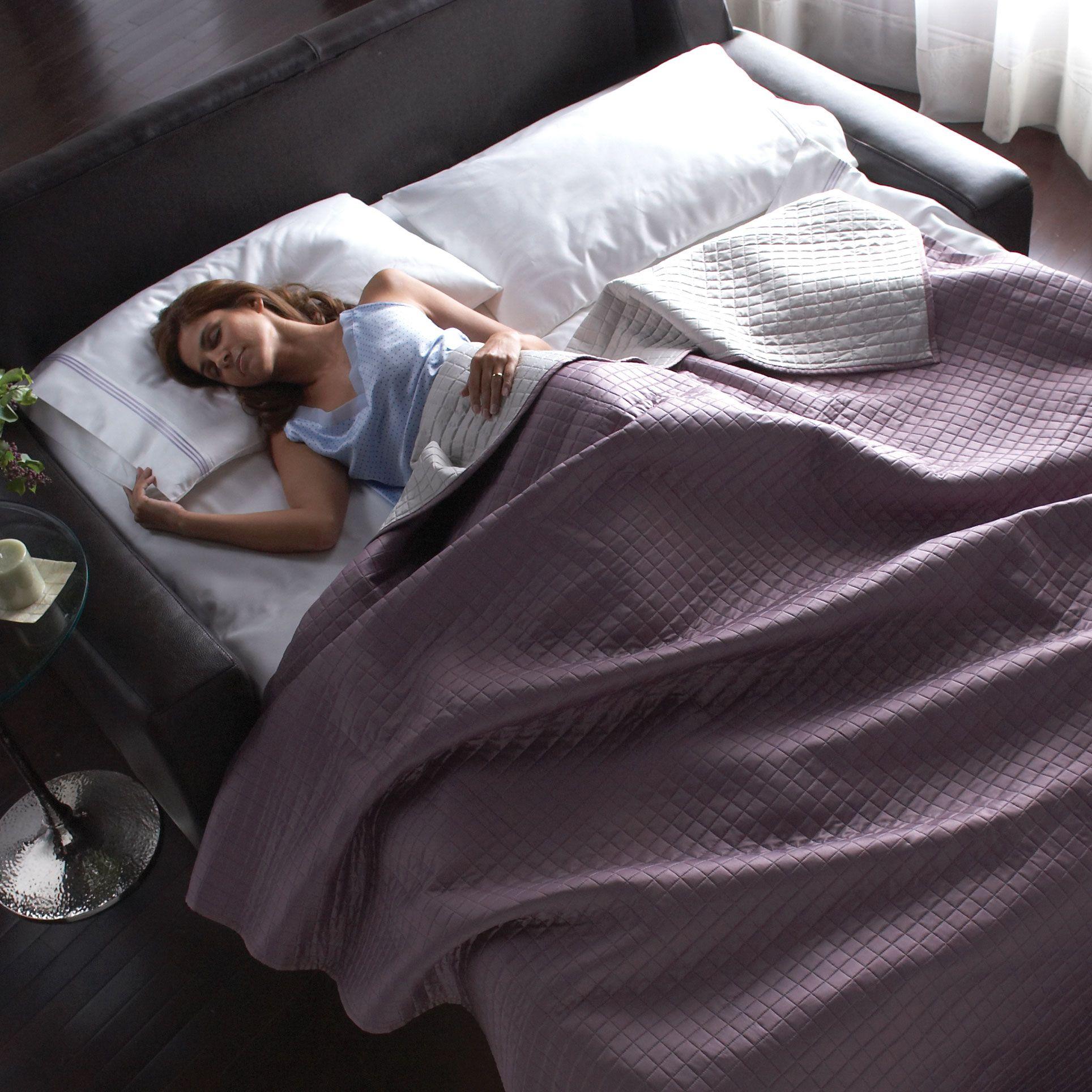 comfort sleeper open sleeping.jpg Bed, Sofa bed, Sofa