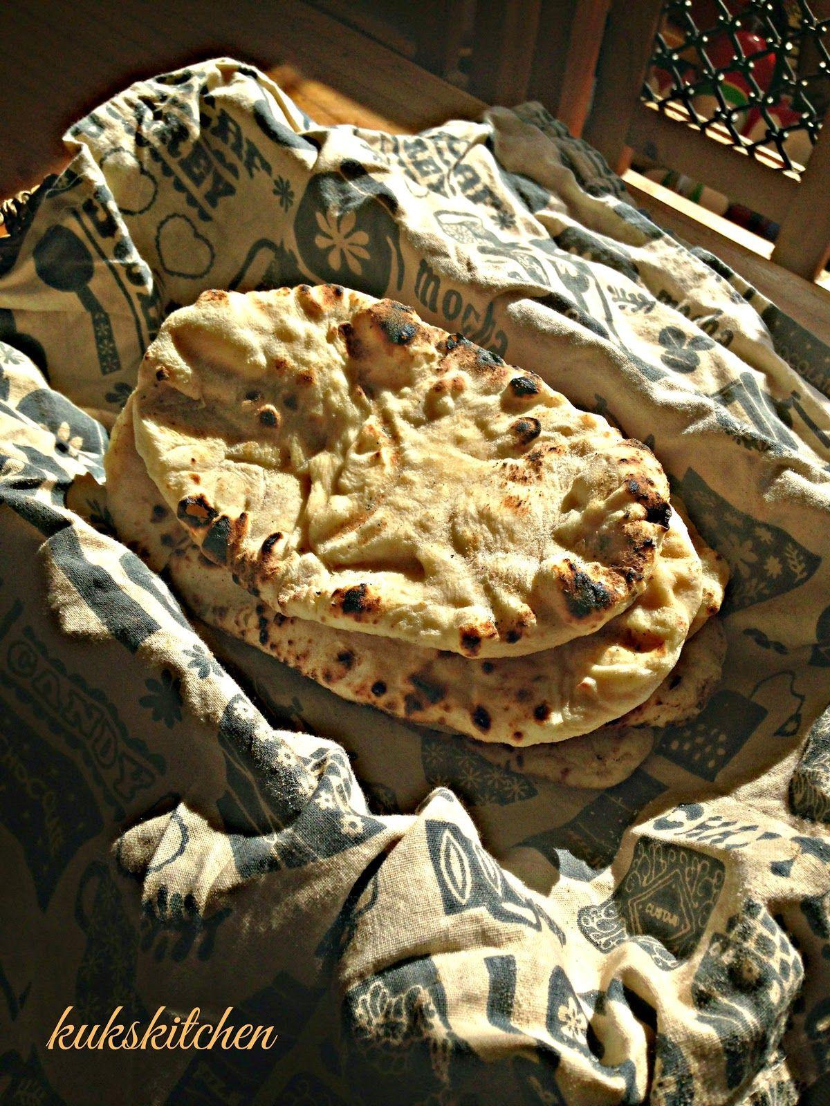 naan no egg no yeast tandoori roti kukskitchen | Tandoori ...