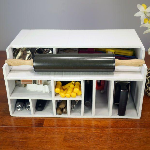 Cardboard Kitchen Cupboard Organizer Avec Images C Est Du Propre