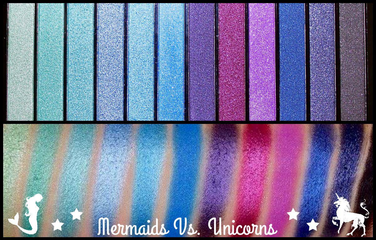 Mermaids VS. Unicorns Makeup Revolution Palette Makeup