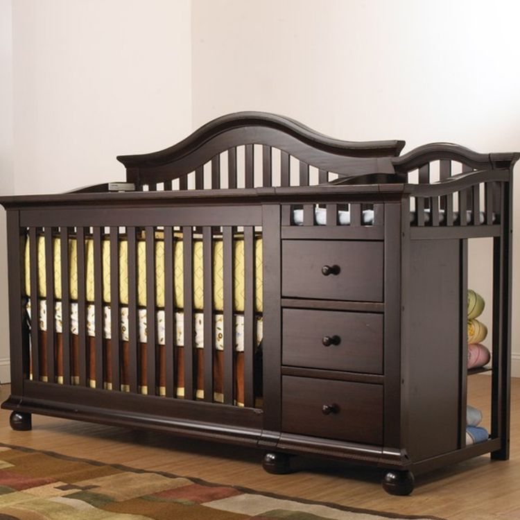 Sorelle Cape Cod Convertible Crib And Changer In Espresso Free Shipping Baby Cribs Convertible Baby Cribs Crib With Changing Table Cribs with changing table combo