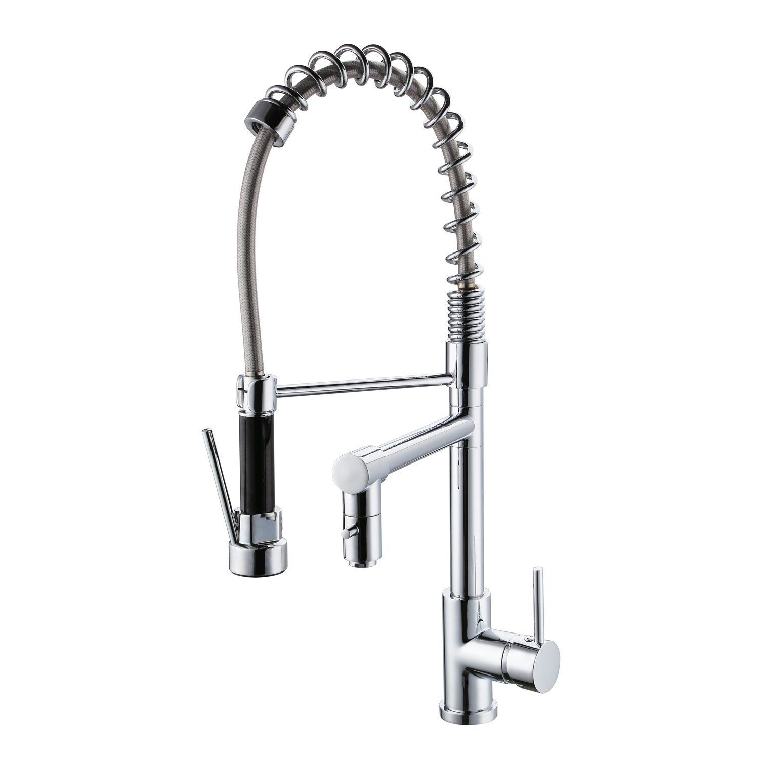 ULING K090 Hot And Cold Push On Spray Kitchen Sink Faucet Pull Down ...