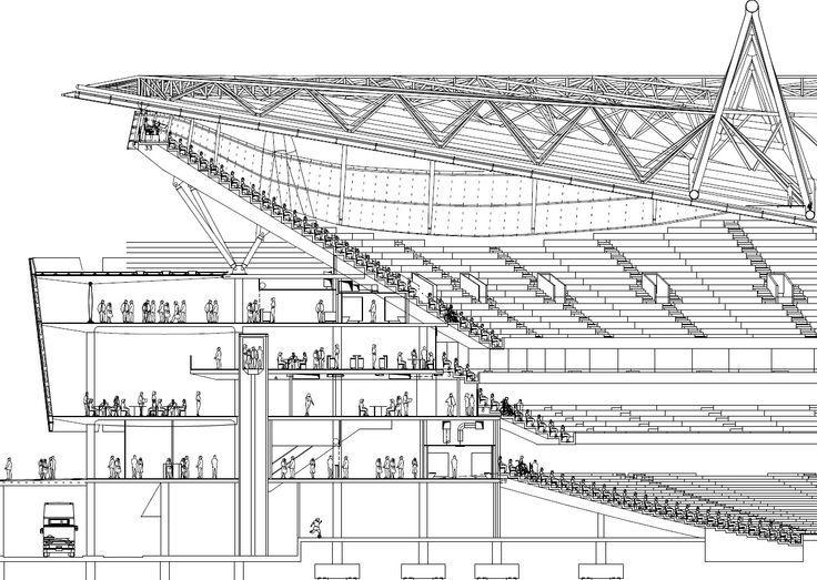 The Emirates Stadium Plans London England Stadium