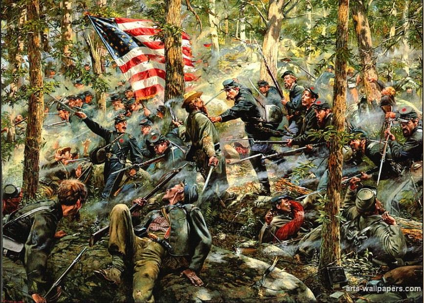 civil war paintings american