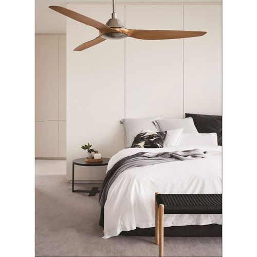Beacon lighting lucci air airfusion type a brushed chrome 60 inch dc ceiling fan