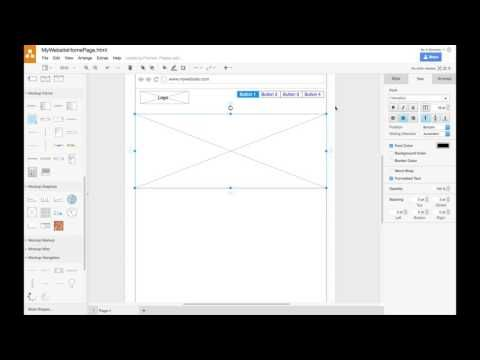 Creating A Website Wireframe In Draw Io Youtube Wireframe Website Wireframe Website