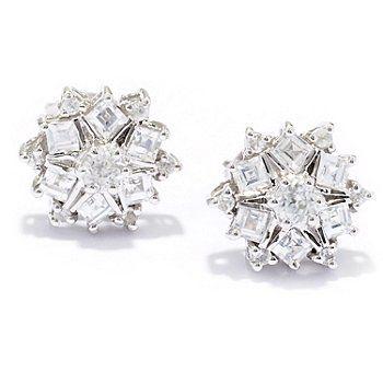 NYC II 1.00ctw White Zircon Stud Earrings