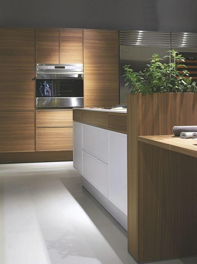 Cuisine moderne en bois  meubles, plan de travail Plan de - meuble bas cuisine avec plan de travail