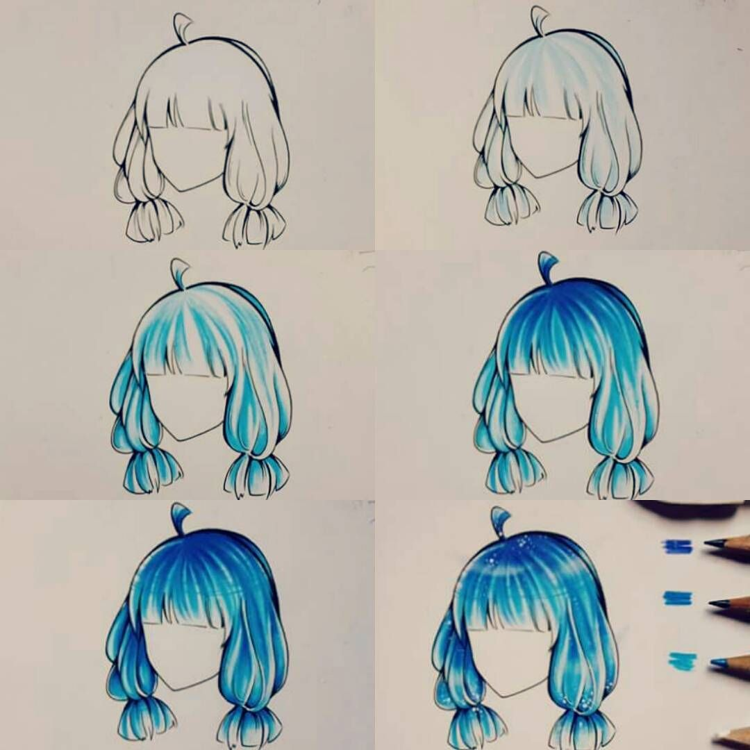 """Photo of Haku on Instagram: """"I made this tutorial very long time ago (nearly three yrs, I guess :)))) so it doesn't look like my current drawing style. Hope it can help…"""""""