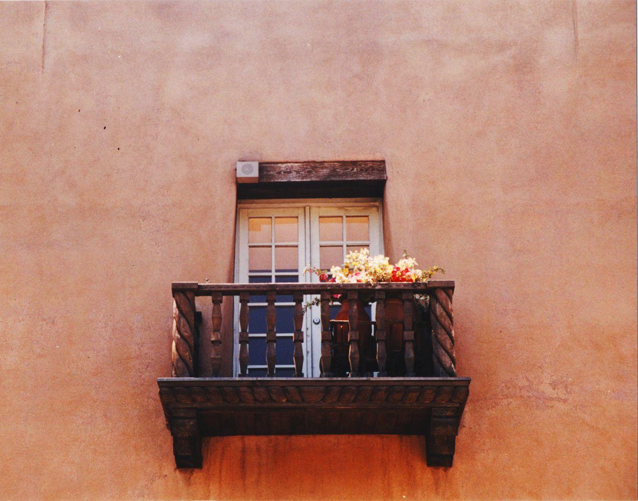 Balcón en Santa Fe (Nuevo México, USA)