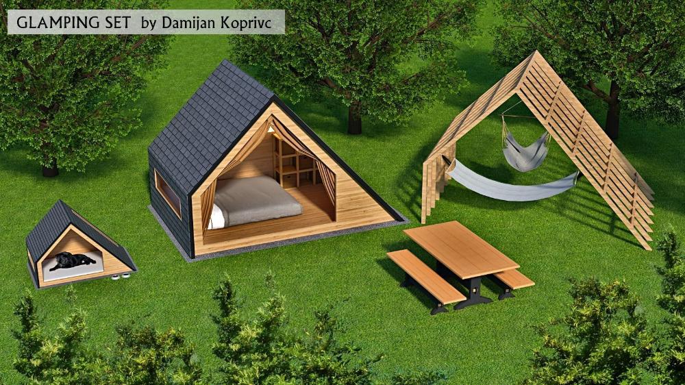 glamping unit 3d model 3D model in 2020 Glamping, 3d