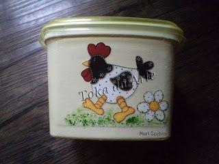 reciclando pote de margarina!
